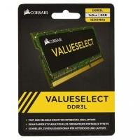MEMORIA SODIMM CORSAIR DDR3 8GB 1600 MHZ VALUE SELECT 1.35V P/N CMSO8GX3M1C1600C11