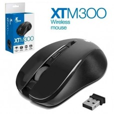 MOUSE INALAMBRICO XTECH INFRARED BLACK 1200DPI 4 BOTONES P/N XTM-300