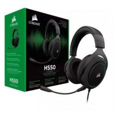 AUDIFONO GAMER CORSAIR GAMING HS50 STEREO GREEN P/N CA-9011171-NA