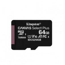 MEMORIA KINGSTON MICROSD 64GB CANVAS SELECT PLUS UHS-I P/N SDCS264GB