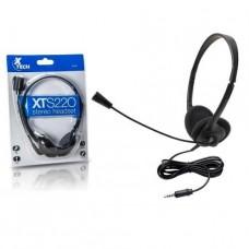 AUDIFONO CON MICROFONO XTECH BLACK P/N XTS-220