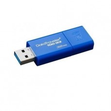 PENDRIVE KINGSTON 32GB DATATRAVELER G100 USB 3.0 AZUL TAPA DESLIZABLE P/N KC-U7132-6UB