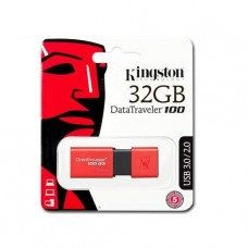 PENDRIVE KINGSTON 32GB DATATRAVELER G100 USB 3.0 ROJO TAPA DESLIZABLE P/N KC-U7132-6UR