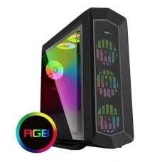 GABINETE GAMER GAMEMAX ASGARD G516 RGB ATX SIN FUENTE P/N G516 RGB