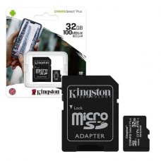 MEMORIA KINGSTON MICROSD 32GB CANVAS SELECT PLUS UHS-I P/N SDCS2/32GB