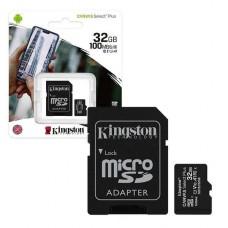 MEMORIA KINGSTON MICROSD 32GB CANVAS SELECT PLUS UHS-I P/N SDCS2/32GB