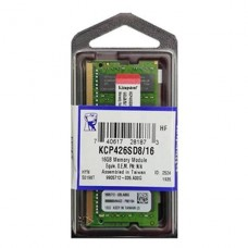 MEMORIA SODIMM 16GB 2666 MHZ KINGSTON P/N KCP426SD8/16